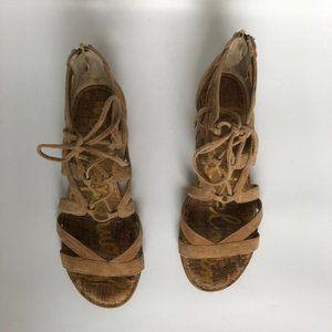 Sam Edelman Shoes - Sam Edelman Dawson Suede Gladiator Wedge Sandal 7